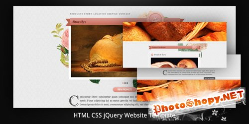 ThemeForest - Old Bakery–Layered (Parallax) HTML5 Web Template - Rip