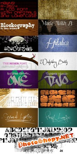 113 font collection