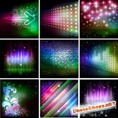 Bright Colorful Backgrounds Vector