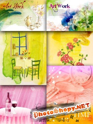 Flower backgrounds pack 23