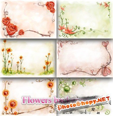 Flower backgrounds pack 24