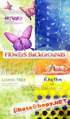 Flower backgrounds pack 27