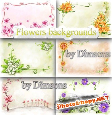 Flower backgrounds pack 26