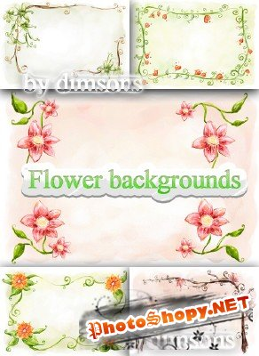 Flower backgrounds pack 28