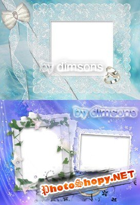 Photo Frame - White bindweed