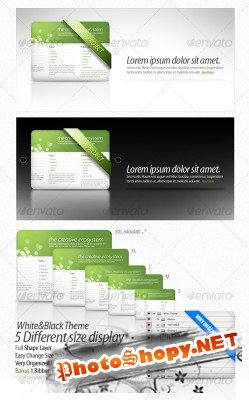 Clean Webpage Display – GraphicRiver