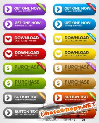 Clean Resizable Buttons - GraphicRiver