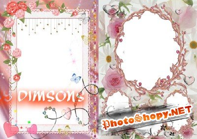 Photo Frame - Delicate Flowers