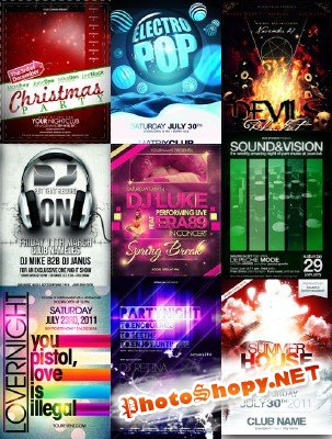 Party/Concert Flyer Template pack # 2