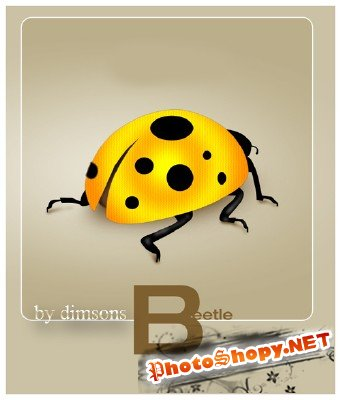 Yellow bug psd