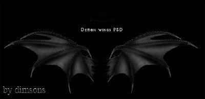 Demon wings psd