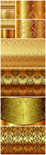 Gold Vector Backgrounds - Gold, vector, background, pattern