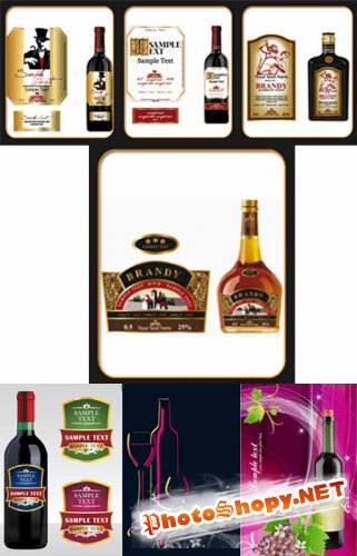������� � ������� / Bottle vector Collection