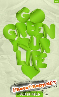 Go green your life psd