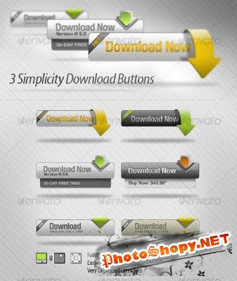 Simplicity Download Button - GraphicRiver