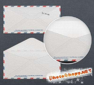 Air Mail Template PSD