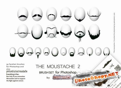 The Moustache brushset 2