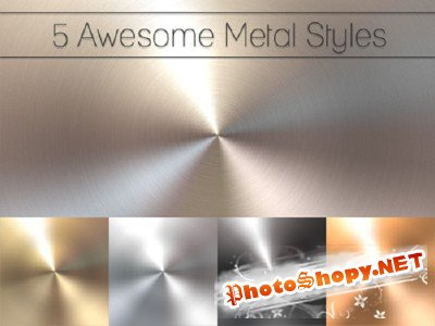 5 Awesome Metal Styles Psd