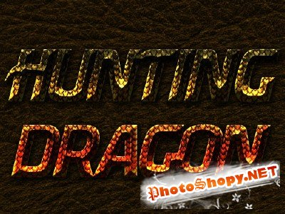 Hunting Dragon Text Effect