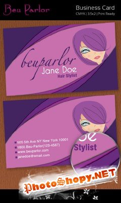 Hair Stylish Business Cards
