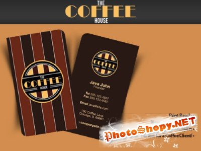 Coffee Company Business Card