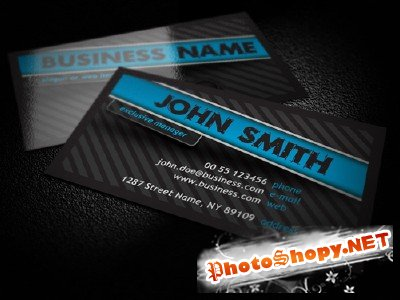 Dark and Blue Business Card