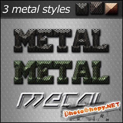 Metal styles - Text Effect PSD