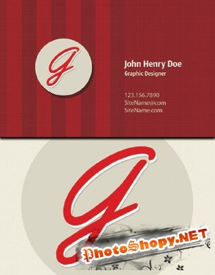 Red Exclusive Vintage Business Card