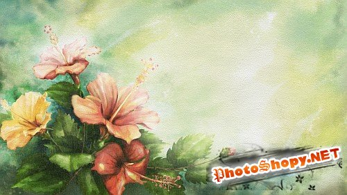 Layered HQ PSD - цветок любви Гибискус