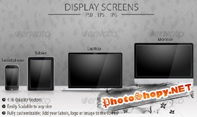 GraphicRiver Display Screens Vector