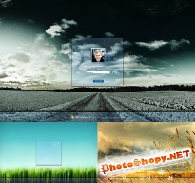 Windows 7 logon template