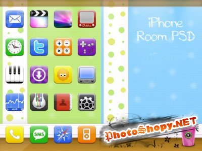 IPhone Room PSD
