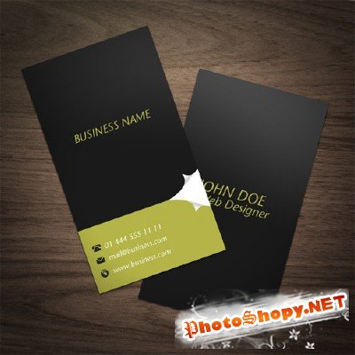Stylish Black Business Cards