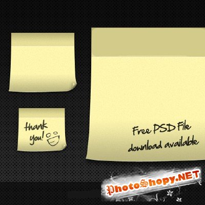 Vector Post It PSD File