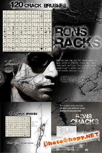 Rons Cracks - 120 Brushes for Photoshop