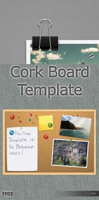 Cork Board and black paper clip