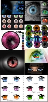 Eyes PSD file pack