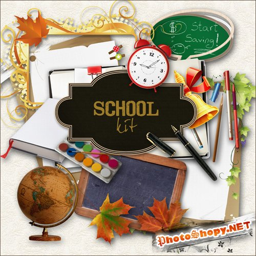 Scrap-kit - School Set #1