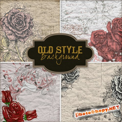 Textures - Old Style Roses Backgrounds