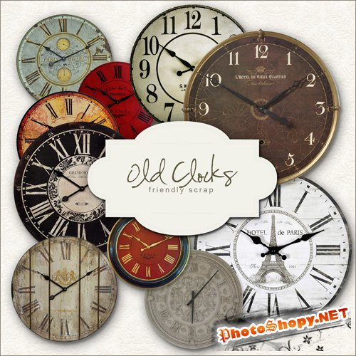 Scrap-kit - Old Clocks