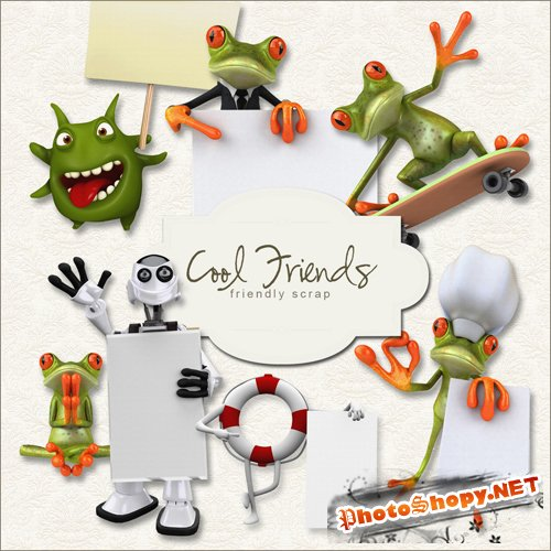 Scrap-kit - Cool Friends #1
