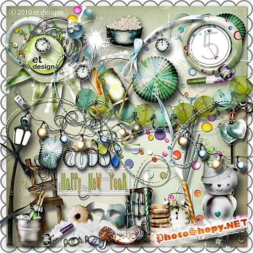 Scrap-set - Happy New Year by Et Design