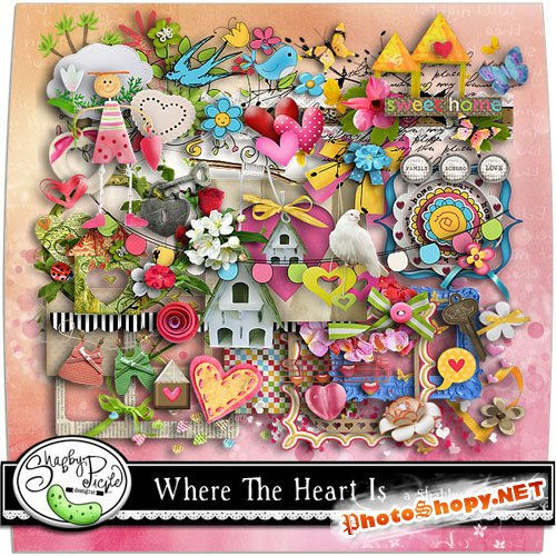 Scrap-set - Where the heart is by ShabbyPickleDesign