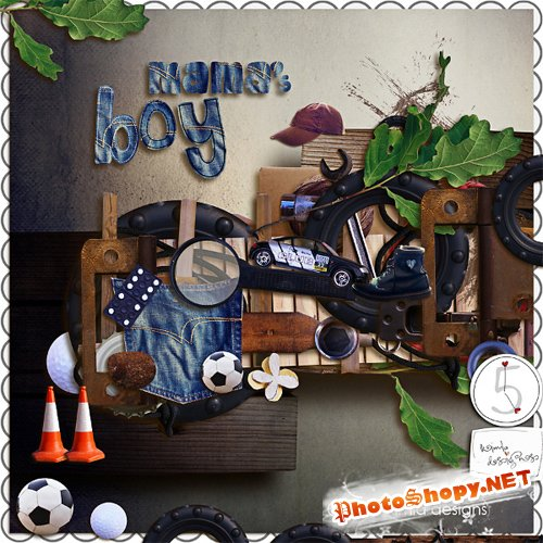 Scrap-set - Mama's Boy by Kimla
