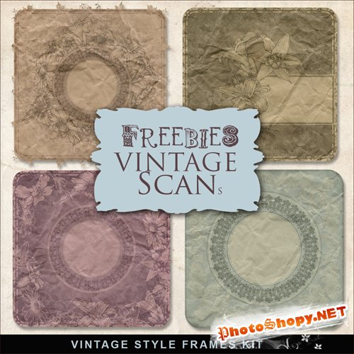 Textures - Vintage Frames Style Backgrounds