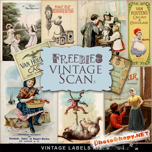 Scrap-kit - Vintage Labels Illustrations