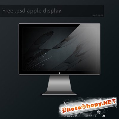 Free psd apple display