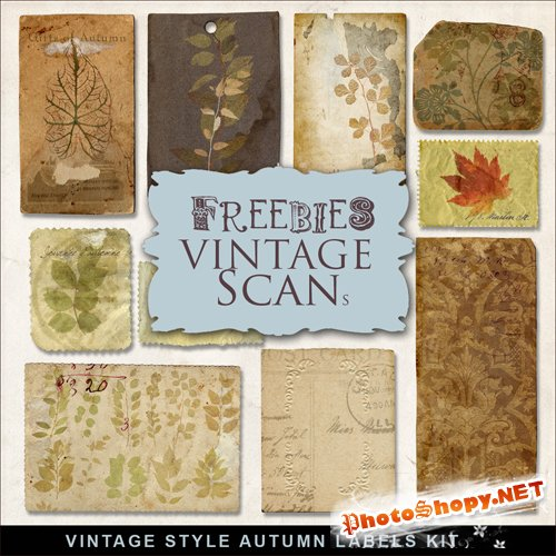 Scrap-kit - Vintage Style Autumn Labels