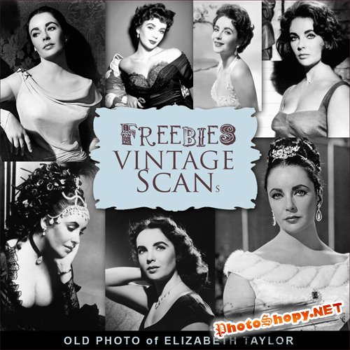 Scrap-kit - Old Photo Of Elizabeth Taylor