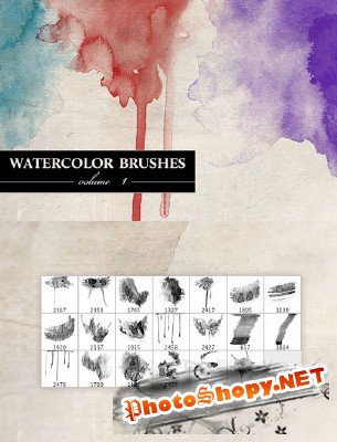 Watercolor brushes Volume 1